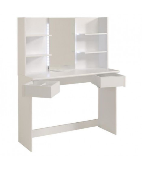 GLOSS Coiffeuse contemporain blanc - L 108 cm