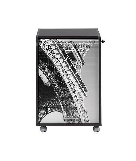Caisson de bureau 2 tiroirs Tour Eiffel Contemporain Noir - L 47,2 cm