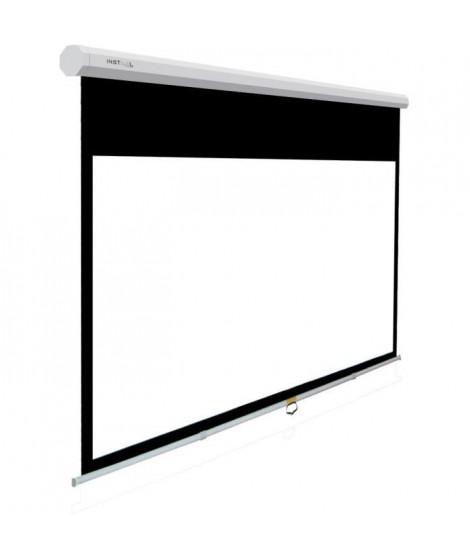 INSTAAL Écran de projection manuel 200 x 150 - PVC - Blanc