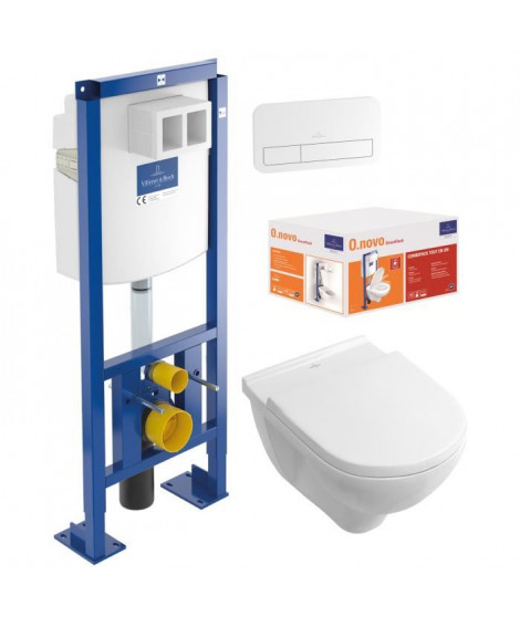 VILLEROY & BOCH Pack WC sans bride O.Novo DirectFlush  + Bati Support Viconnect