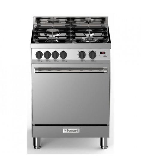 BOMPANI BTECH66IX - Cuisiniere table gaz - 4 foyers - Four électrique multifonction - Catalyse - 58 L - B - L 60 x H 80 cm - …