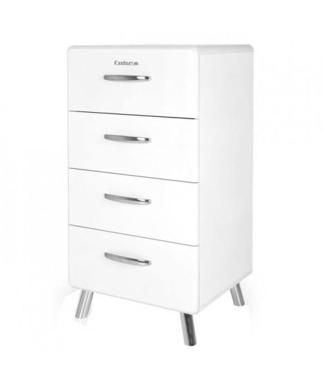 COBRA Chiffonnier style contemporain mélaminé et laqué blanc - L 50 cm