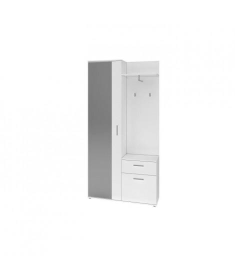 ASTUS Armoire d'entrée style contemporain blanc mat - L 97 cm