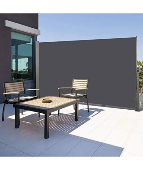 Paravent retractable 1,6 x 3 m Gris