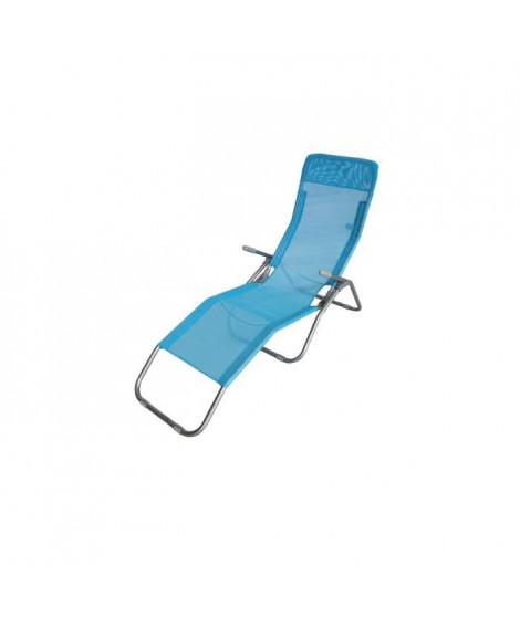 LUNJA bain de soleil bleu - en textilene