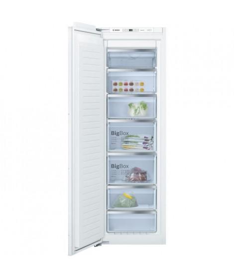 BOSCH GIN81AE30 - Congélateur armoire intégrable - Froid No Frost - A++ - L 56 cm x H 177,5 cm x P 55 cm - Fixation a pantogr…
