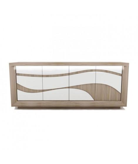 VENETO Enfilade 4 Portes - Style Contemporain - L 210 x P 50 x H 85 cm