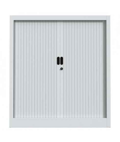 PIERRE HENRY Armoire de bureau JOKER style industriel - Métal gris clair - L 90 x H 100 cm