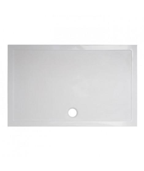 BALNEO Receveur de douche rectangulaire a poser Stella - 140 x 80 cm - Résine - Blanc