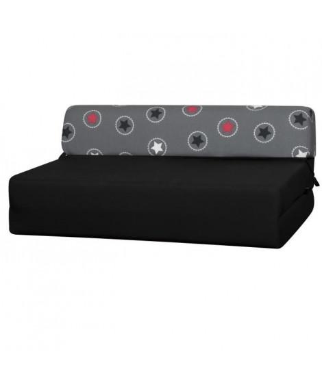 GWEN Chauffeuse 2 places - Tissu Rouge Star - Style contemporain - L119 x P 78 cm