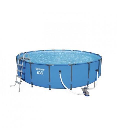 BESTWAY Kit piscine ronde Steel Pro Max Pool - Ø 549 x H 122 cm