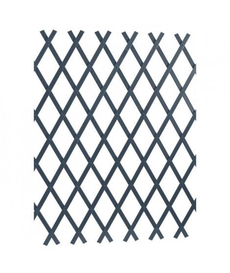 LAMS Treillage PVC strié - 2 x 1 m - Gris