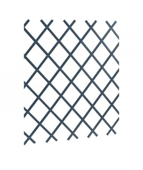 LAMS Treillage PVC lisse - 2 x 1 m - Gris