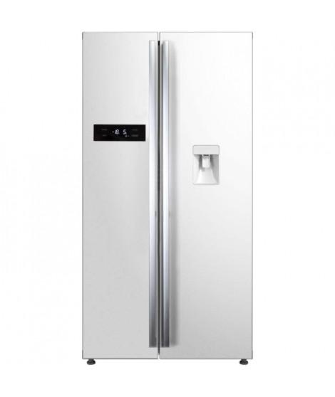 CONTINENTAL EDISON - Réfrigérateur américain-525 L (348 + 177L)-No frost-A+-L 89,5 x H 178,5 cm-Blanc-Distributeur d'eau auto…