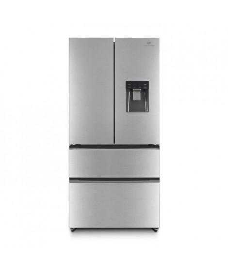 CONTINENTAL EDISON CERAF536DIX Réfrigérateur multi portes-536 L ( 350+186 )-Froid ventilé- Classe A +-L 83,3 x H 182 cm-Inox