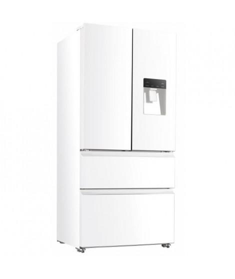 CONTINENTAL EDISON CERAF536DW Réfrigérateur multi portes-536 L ( 350+186 )-Froid ventilé-Classe A +-L 83,3 x H 182 cm-Blanc