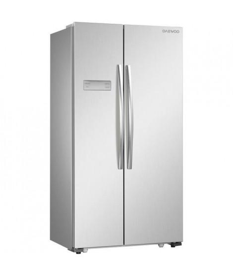 DAEWOO FRN-H540B2X-Réfrigérateur américain-517L (448L + 191L)-Froid ventilé total-A+-L 90,5 x H 177 cm-Inox