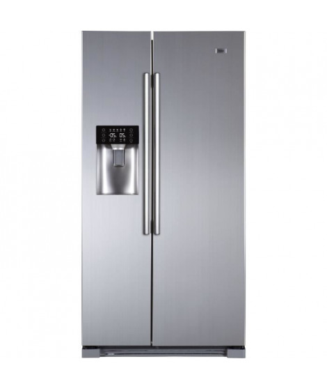 HAIER - HRF-629IF6 - Réfrigérateur Américain - 550L (375L + 175L) - Total No Frost - A+ - L90cm x H179cm - Inox