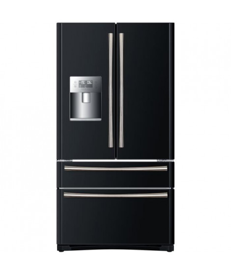 HAIER B22FBAA - Réfrigérateur multi-portes - 522L (387+135) - Froid ventilé - A+ - L 91cm x H 177cm - Noir brillant