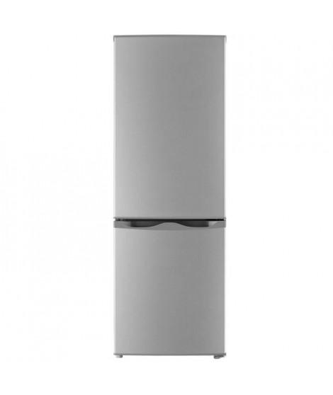 Oceanic Réfrigérateur Congélateur bas - 165L (122L+43L) - Froid statique - A+ - L 49,5 x H 143 cm - SILVER