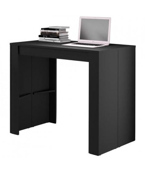 GOOMY Console extensible style contemporain - Noir mat - L 50 a 180 cm