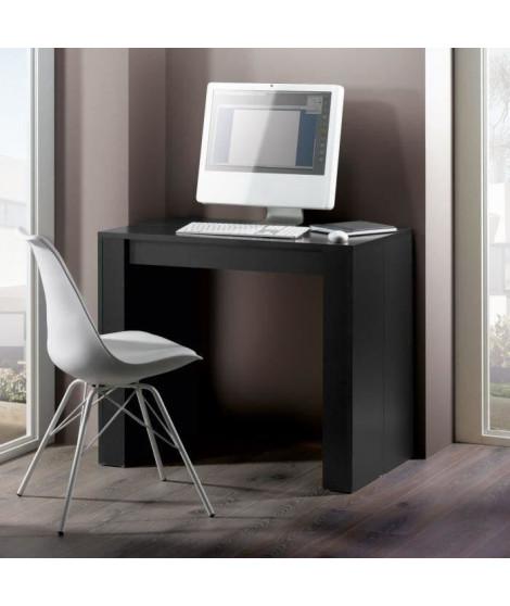 GOOMY Console extensible style contemporain - noir mat - L 50 a 270 cm