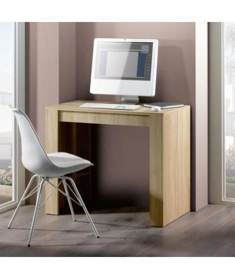 GOOMY Console extensible style contemporain - Décor chene - L 50 a 270 cm