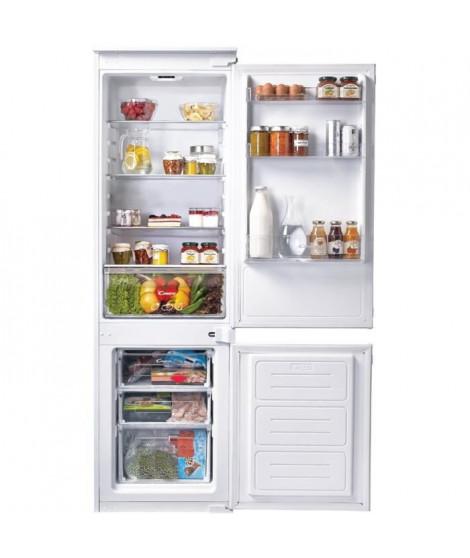 CANDY CKBBS100 - Réfrigérateur combiné encastrable - 250 L (190+60 L) - Froid statique - A+ - L 56 x H 177 cm