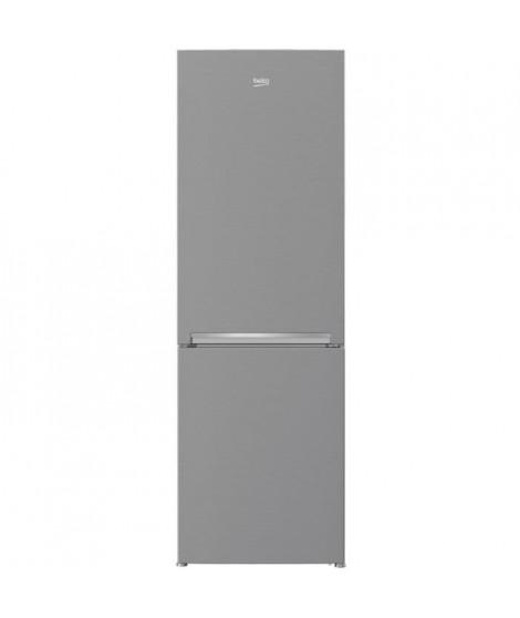 BEKO - RCSA330K20PT - Réfrigérateur combiné - 295L (205L + 90L) - Froid statique - A+ - L59,5cm x H185,3cm - Inox