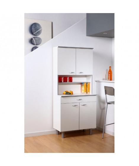 READY Buffet de cuisine Blanc mat - L 80 cm