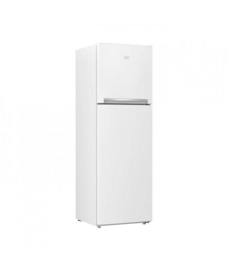 BEKO - RDNT270I20W - Réfrigérateur double porte - 241L (179l + 62L) - Froid Ventilé - A+ - L54cm xH165cm - Blanc