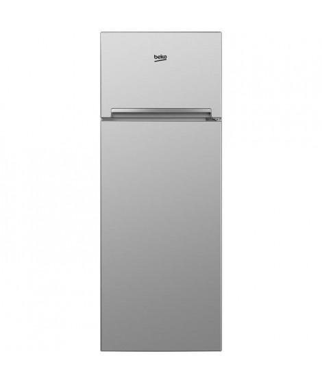 BEKO RDSA280K20S - Réfrigérateur 2 portes congélateur haut - 250 L (204 + 46 L) - Froid statique - A+ - L 54 x H 160 cm - Silver