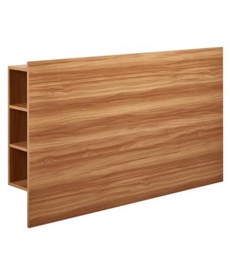 DESCARTE Tete de lit classique - Décor chene naturel - L 160 cm