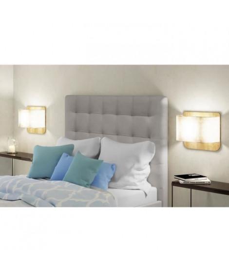 FINLANDEK Tete de lit capitonnée MUSTA style contemporain - Simili taupe - L 140 cm