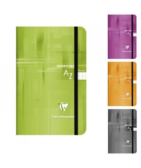 CLAIREFONTAINE - Repertoire reliure intégrale - 11 x 17 - 96 pages 5x5 - Couverture pelliculée - 4 couleurs aléatoires
