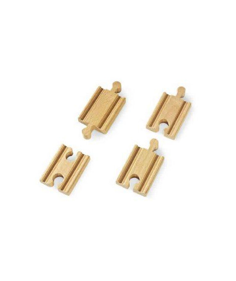 BRIO World  - 33333 - Mini Rails Droits - Mixtes 54Mm