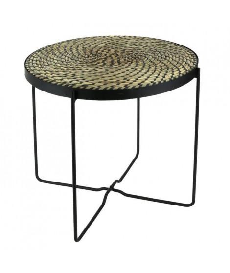 Table ethnical life Noir - L 43 x P 43 x H 50 cm