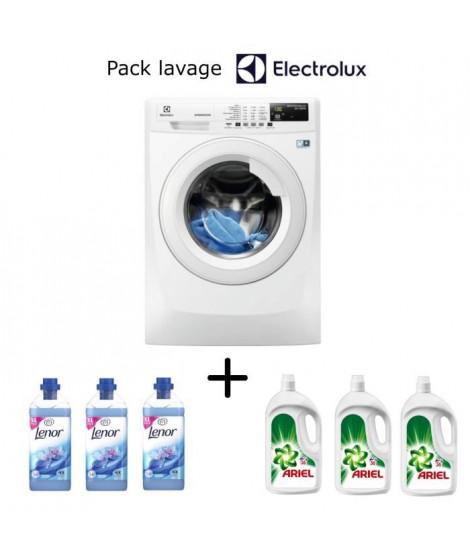 Pack lavage Electrolux: lave linge EWF1291ED + 1 an lessive ARIEL + 1 an assouplissant LENOR
