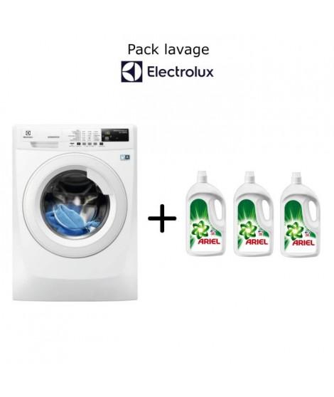 Pack lavage Electrolux: lave linge 9kg A+++ EWF1291ED + 1 an lessive ARIEL (3 bouteilles de 56 doses)