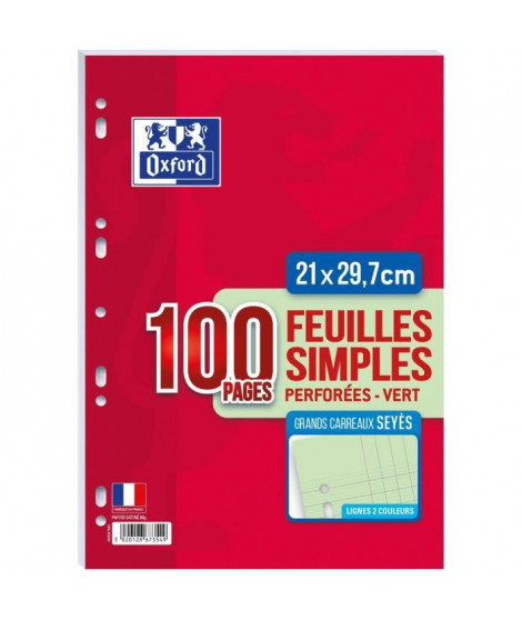OXFORD Feuilles mobiles A4 Seyes - Vert
