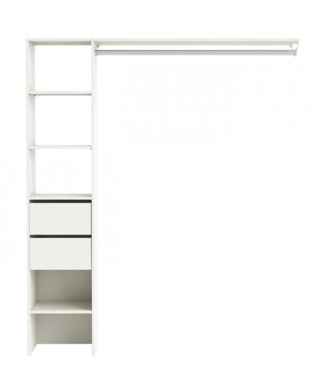 DUO Dressing classique blanc perle - L 160 cm