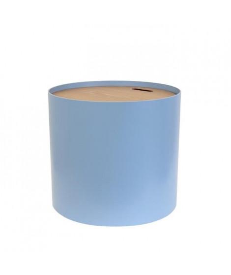 Table coffre Bleu - L 48 x P 48 x H 43 cm