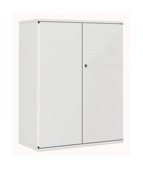 PIERRE HENRY Armoire de bureau JOKER style industriel - Métal gris clair - L 80 x H 105 cm
