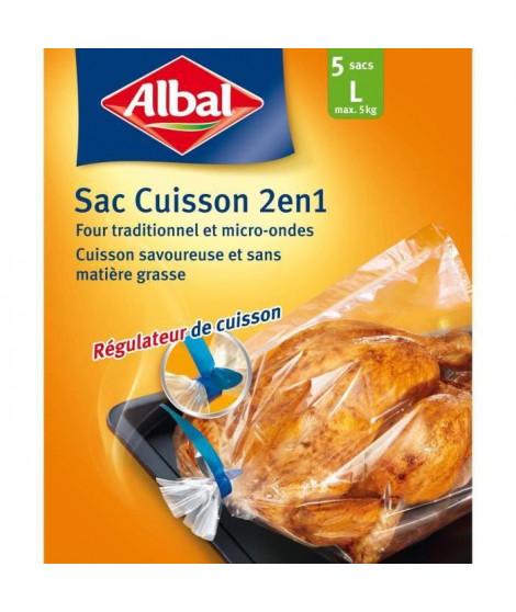 ALBAL Sachet de 5 sacs Cuisson au four - 1 L - 2 en 1 - 35 x 43 cm (Lot de 3)