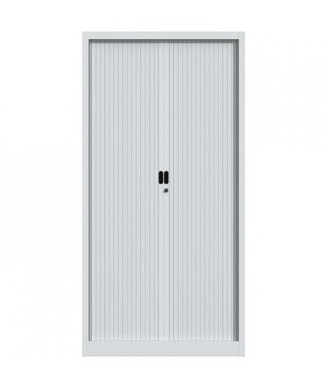 PIERRE HENRY Armoire de bureau JOKER style industriel - Métal gris clair - L 90 x H 180 cm