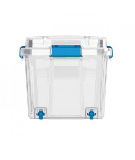 ABM Boîte de rangement - 80 L - Transparent - Poignées ergonomiques - Joint étanche - Plateau en option - IP44