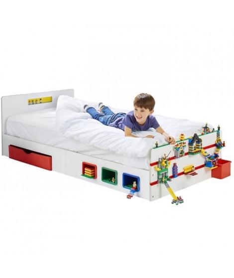 Room 2 Build Lit simple pour enfant avec rangement