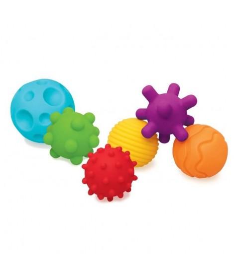 BKIDS Jouet multi-activités 6 balles sensorielles
