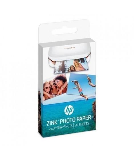 Papier Photo adhésif HP ZINK - 20 feuilles - 5 x 7,6-cm (2 x 3-inch) - HP Sprocket (Lot de 2)