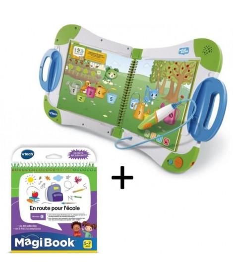 VTECH - MagiBook Starter Pack Vert & En route pour l'école